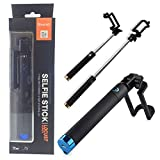 PH Artistic Universally Compatible Foldable Holder Elegant Black Rubberized Finish Locust Series Pocket Sized Selfie Stick Monopod With Inbuilt Blueto
