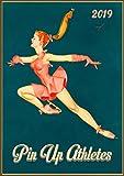 Pixiluv Calendario da parete 2019[12pagine 20,3x 27,9cm] pin Up sexy Girl sport Ice skate