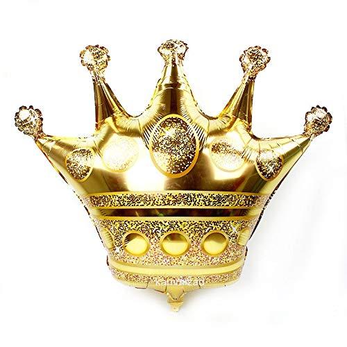 Yichener Folienballons, groß, 99 cm, goldfarben, mit Krone, Prinz, Prinzessin, Babyparty, 31 20 1. Geburtstag, Coroa, Party-Dekorationen für Erwachsene 16inch_Gold