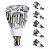 GreenSun 5 Stück E14 5W LED Spots Lampe Warmweiß 2700K Ersetzt 40W Gluhlampe Leuchtmittel 100% Aluminum Reflektor Gehäuse LED Strahler AC 220V