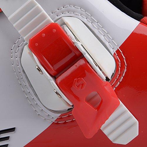 Unisexe respirant chaussures de vélo professionnels pour route et VTT SD-001 Blanc / Rouge pour le Route