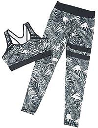 Frauen Sportanzug Yoga Legt Hemd Bh + Leggings Elastizität Fitness Anzüge für Yoga, Laufen und andere Aktivitäten, Juleya