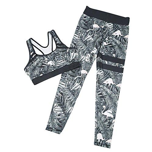 Frauen Sportanzug Yoga Legt Hemd Bh + Leggings Elastizität Fitness Anzüge (Sport-bhs Tank-stil)
