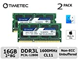 Timetec Hynix IC Apple 16GB Kit (2x8GB) DDR31600MHz PC3-12800 SODIMM Memory Upgrade For Mac (16GB Kit (2x8GB))