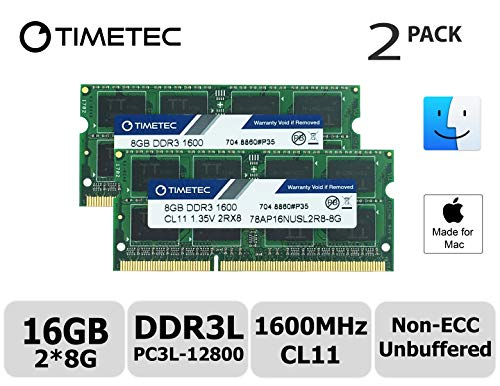 Timetec Hynix IC 16GB Kit (2x8GB) DDR31600MHz PC3-12800 SODIMM Memory Upgrade For Mac (16GB Kit (2x8GB)) (2012 Imac Arbeitsspeicher)