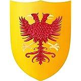 Fantashion F 15 - escudo de caballero, águila, vestirse y traje, rojo / amarillo