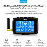 Cars Trucks TPMS-Auto Wireless Reifendruckkontrollsystem + 6Rad Externe Sensor LCD austauschbarer Batterie