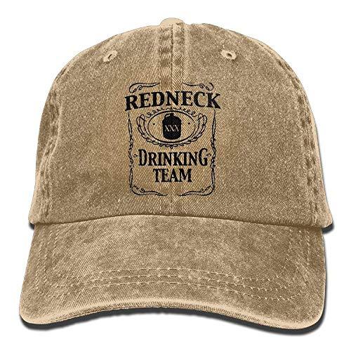 Wfispiy Redneck Drinking Team Unisex Cotton Denim Cowboy Hat Personalized Vintage Cap