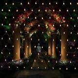Salcar LED Guirlande Lumineuses Filet, 3 * 2 mètres pour les fêtes de Noël Party Décoration, intérieur, 8 effets d'éclairage différents (blanc chaud)