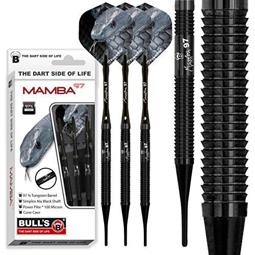 BULL\'S Erwachsene M1 Soft Dart 20 g Mamba-97, Schwarz, 20g