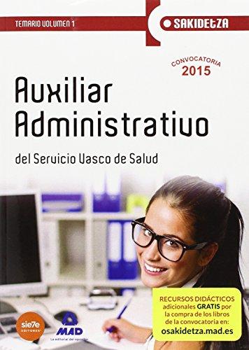 Auxiliar Administrativo de Osakidetza-Servicio Vasco de Salud.: 1 (Osakidetza 2015)