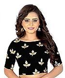 #4: Flowers Fashion Black Banglori Cotton Silk Readymade Embroidery Designer Blouse Girls And Women