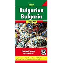 Bulgarien, Autokarte 1:400.000, freytag & berndt Auto + Freizeitkarten: Wegenkaart 1:400 000