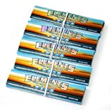5 x Elements Ultra thin Rice Papers CONNOISSEUR King Size Slim + TIPS