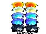 Galaxy lentes de repuesto para Oakley Fast Jacket negro y azul y verde y oro y rojo Color Polarizados 5 Pares - negro y azul y verde y oro y rojo