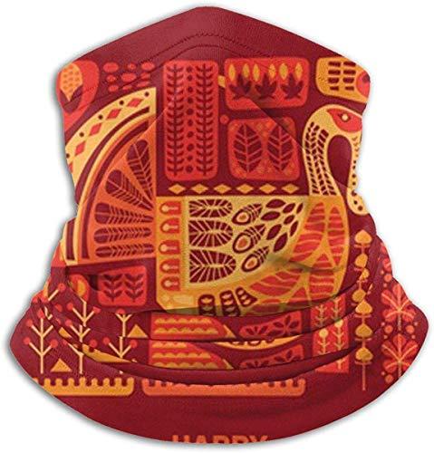 congminbai Schlauchschal Herren,Halswärmer Warm Thanksgiving Pattern Neck Gaiter Warmer Men Women Warm Windproof Neck Heating Wrap Windproof -