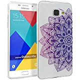 Coque pour Samsung Galaxy A5 2016, Mifine Ultra Mince Transparent [Souple et Flexible, Absorption des Chocs, Anti-rayures] TPU Silicone Soft Etui Housse Case (No.1-Pourpre)