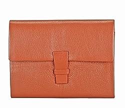 Adamis Genuine Leather Tan Card Case