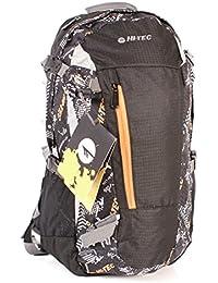 Hi-Tec Villy 25 litros mochila de senderismo mochila de viaje, color Orange-Black, tamaño mediano, volumen  25 liters