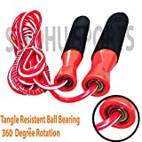Sindhu Sports Fitness Plastic Jumping Skipping Rope for Gym Training, Exercise and Workout