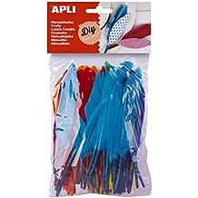 Apli 946033 - Pack de 100 plumas para manualidades, multicolor