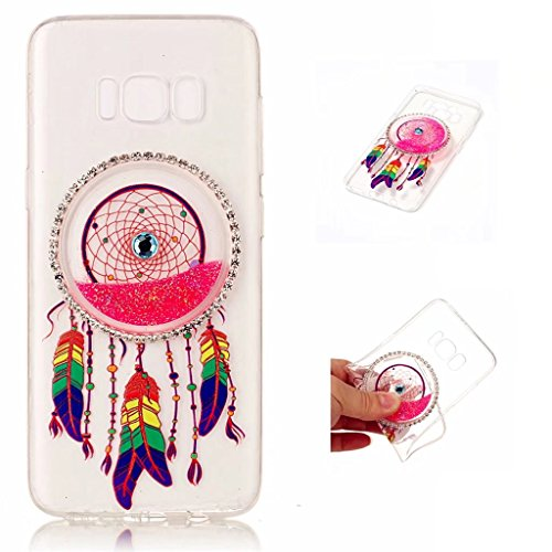 samsung-galaxy-s8-case-cover-mutouren-tpu-silicone-liquid-cover-stylish-3d-creative-red-dreamcatcher