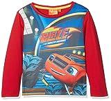 Sun-City Blaze Racing Tricks, T-Shirt Bambino, Rosso (Red 19-1763TC), 5-6 Anni