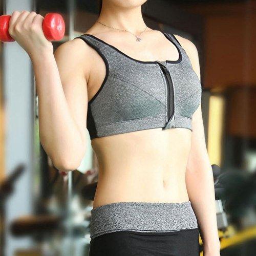 Cocohot Donna Sport Yoga Fitness Workout Reggiseno Grigio