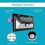 Sampri Security 32 LED Solar Powered Wireless Waterproof 2 Modes Motion Activated, Wide