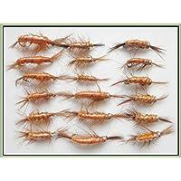 18camarón Pesca de la trucha vuela Ninfa