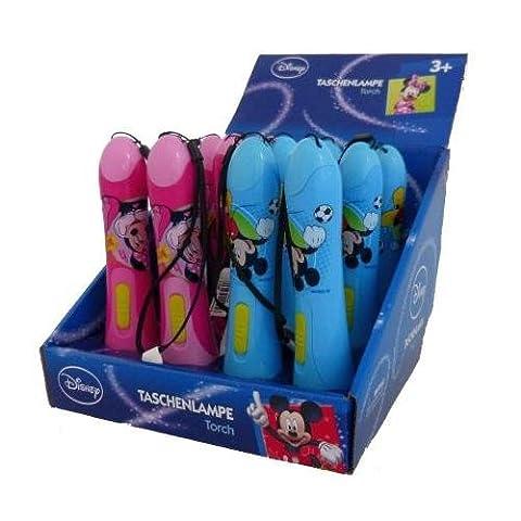 SET T 924 + T 925 - technoline Kinder-Taschenlampe 1x Micky Maus und 1x Minnie Maus Disney (Mickey Mouse Lampe)