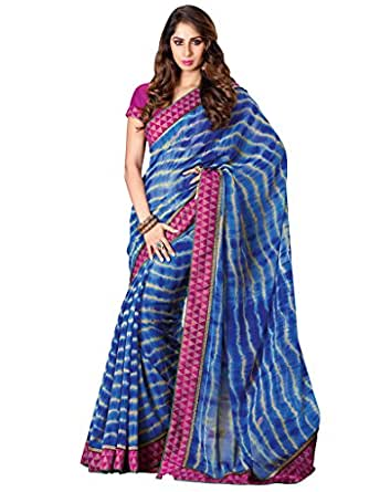 Shreevas Chiffon Saree (Trdnl1012_Blue)