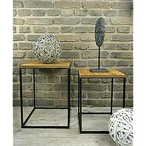 Livitat® Beistelltisch Satztisch Pflanztisch H66 cm Pflanzsäule Säulentisch Metall LV5016