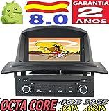 Renault Megane 2 II/Android 8.0, Octa Core, 4GB RAM, 32 GB ROM/GPS Radio Coche DVD AUTORADIO, Car/Tpms WiFi 3g 4g RDS CD SD navi navegador Map Stereo Año: 2002 2003 2004 2005 2006 2007 2008