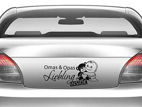 GRAZDesign 745026_10_055G Auto-Aufkleber Baby fürs Auto Spruch Omas & Opas Liebling | Geschenk zur Geburt - Heckscheiben-Aufkleber (22x10cm//055 mint)