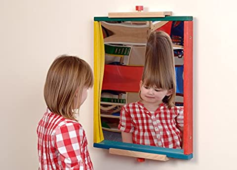 Childrens Concave & Convex Mirror Wall Play Panel