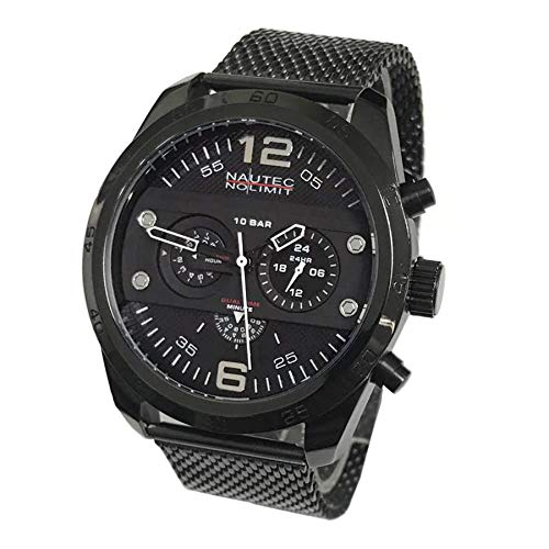 Nautec No Limit Mens Chronograph Quartz Watch with Stainless Steel Strap 124018