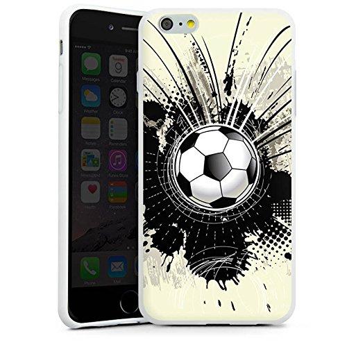 Apple iPhone X Silikon Hülle Case Schutzhülle Fußball Sport Klecks Silikon Case weiß