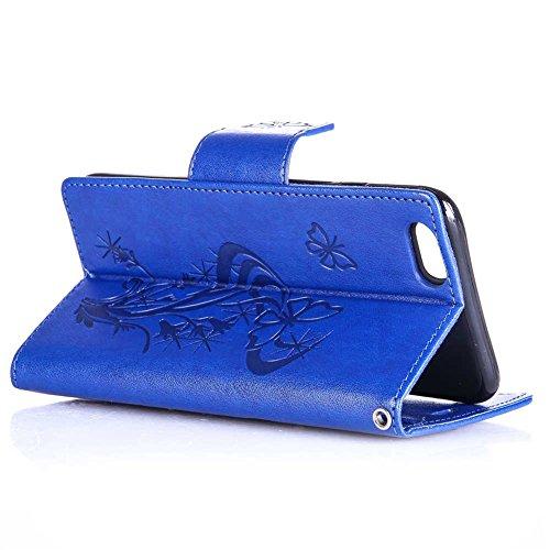 "iPhone 6 plus / 6S plus Coque, LANDEE PU Leather Bling Bling Gaufrage Etui Housse Flip Case Coque Pour iPhone 6 plus / iPhone 6S plus (5.5"") (6P-P-0612) 6P-P-0602"