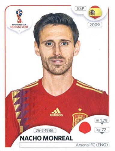 World Cup Aufkleber Russland 2018Panini 137Nacho Monreal Spanien Fußball Aufkleber