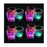 BIEE, LED Longdrinkglas Longdrinkgläser Geburtstag Party Hochzeit Kunststoffglas LED beleuchtetes Trinkglas Partyglas(24pcs)