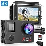 Campark Action Cam 4K Unterwasserkamera WiFi 16MP Ultra HD Helmkamera Wasserdicht mit Handgelenk...