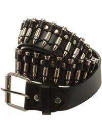 Accessoryo - cowboy argent de style balles de couleur goujons ceinture noire disponible dans une sélection de tailles