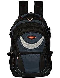 Power In Eavas 25 Liters Nylon Black And Dark Blue 15.6 Premium Quality Water Proof Laptop Backpack (Ch_Bag316DarkBlue)