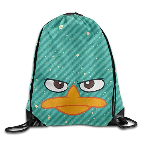 Artpower Perry Platypus - Face Phineas Ferb Cool Drawstring Backpack String Bag (Ferb Halloween Y Phineas)