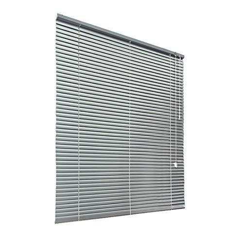 HSYLYM Persianas venecianas Habitación de Aluminio Oscurecimiento Muebles para el hogar Protección contra el Resplandor Decoración de Ventanas Persianas de Oficina (Gris, 110x130cm)