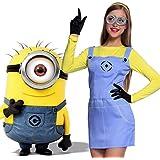 Anladia - Cosplay Dress Disfraz de Minions Dave Gru Mi Vllano Vavorito Fever misiones Talla S M L para Adulto Mujer Fiesta Carnaval Temáticas (M)