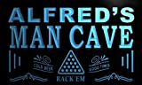 x0123-tm Alfred's Man Cave Karaoke Lounge Custom Personalized Name Neon Sign Enseigne Lumineuse