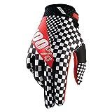 100% ridefit Legend Motocross Gants–Noir Blanc Rouge