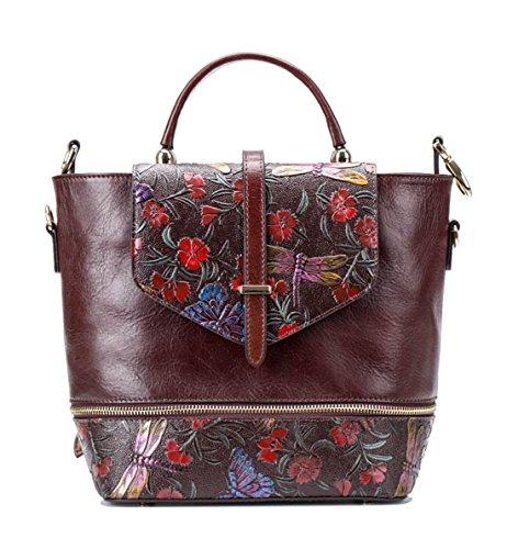 Keshi Leder Cool Damen accessories hohe Qualität Einfache Tasche Schultertasche Freizeitrucksack Tasche Rucksäcke Café